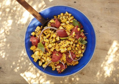 Recipe: Charred Corn Salad with Basil and Tomatoes | Think ...