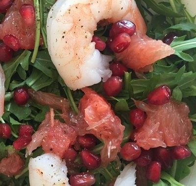Citrus Pomegranate Shellfish Salad