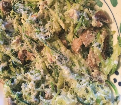 zoodles with ricotta sauce