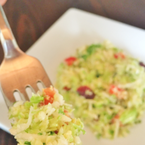 brussel sprout slaw with citrus dressing