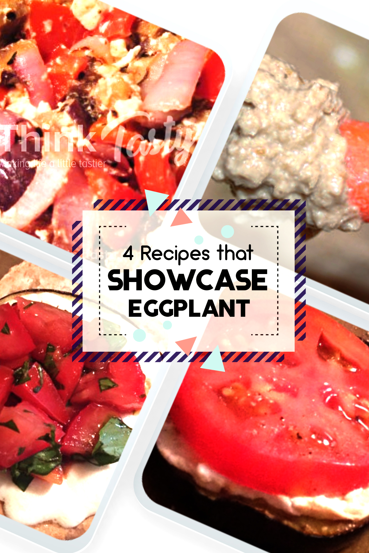 Eggplant Salsa, Baba Ghanoush, Grilled Eggplant Parmesan Sandwich, and Warm Eggplant & Goat Cheese are 4 great ways to cook with eggplant