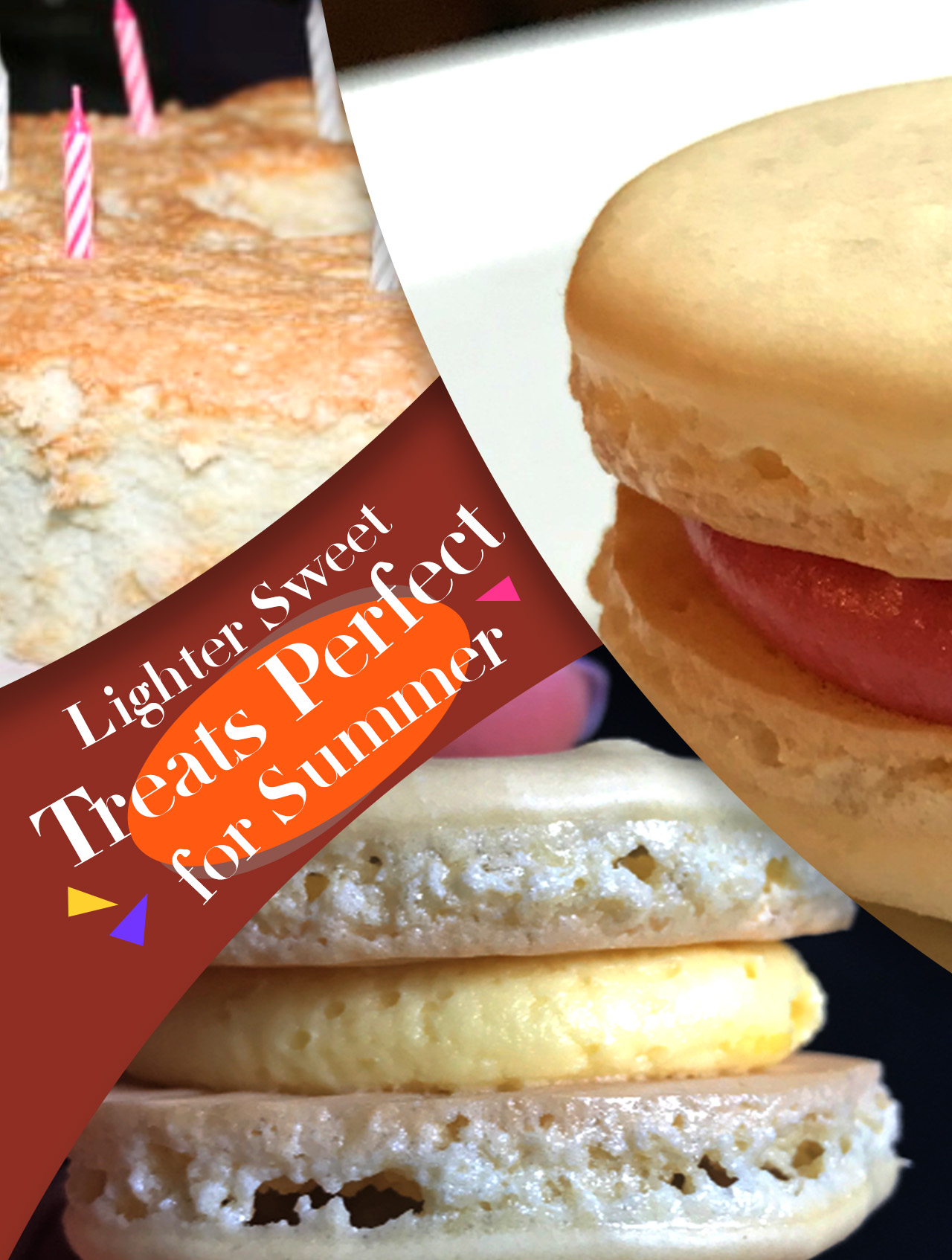 angel food cake & macarons