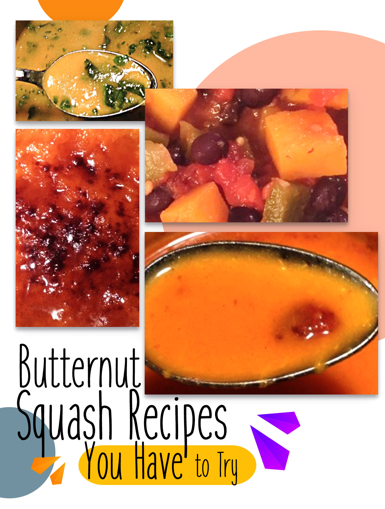 4 dishes featuring butternut squash