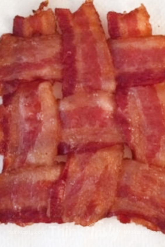 bacon slices woven together