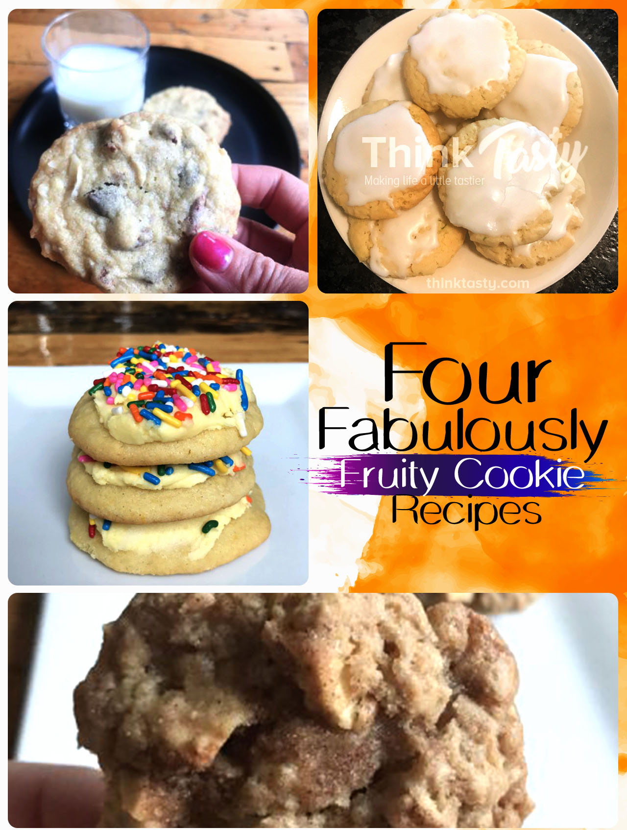 Four cookie recipes that feature fruit