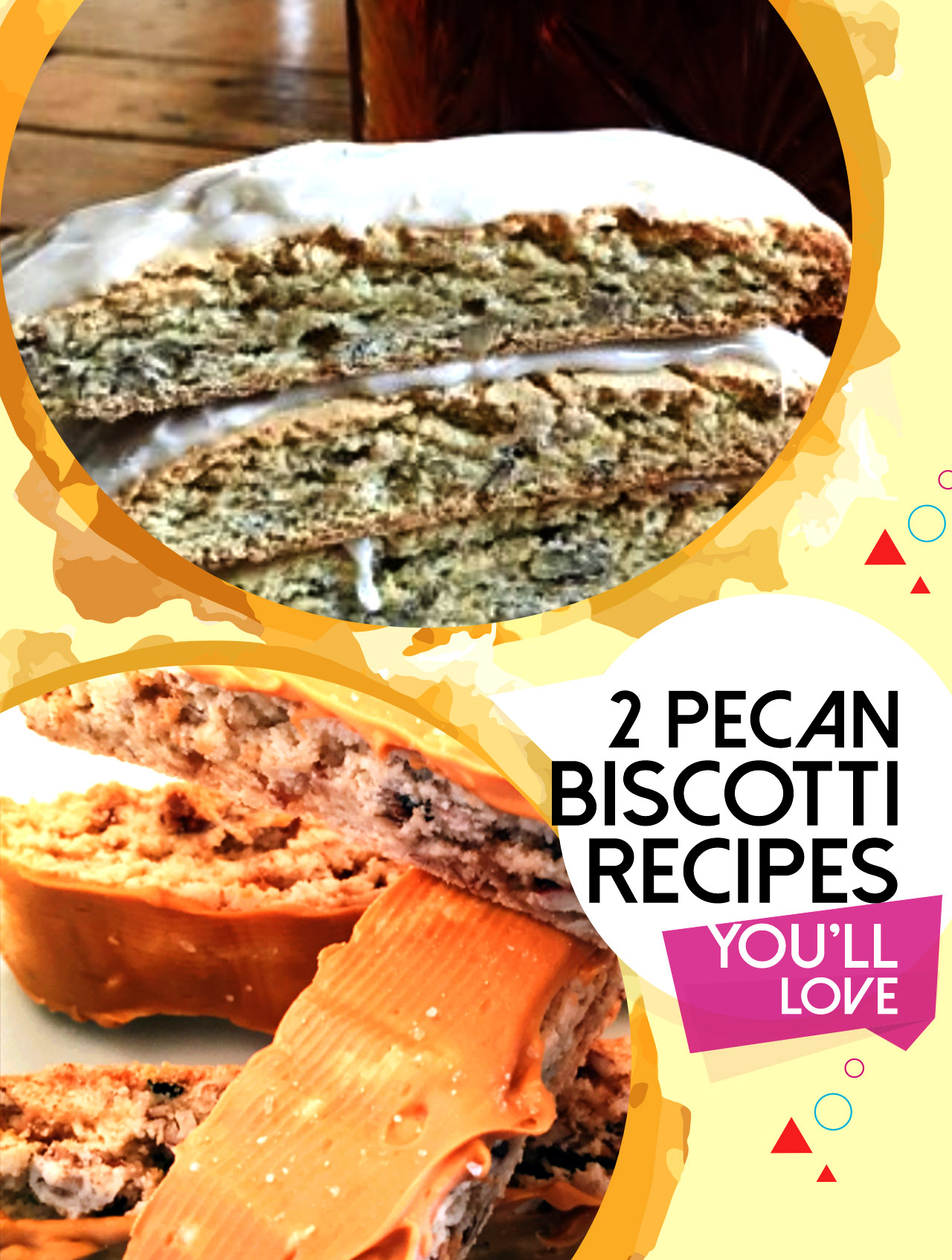 2 types of pecan biscotti