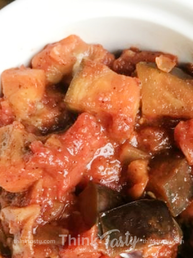 Eggplant and Tomato Sauté with a Spicy Kick