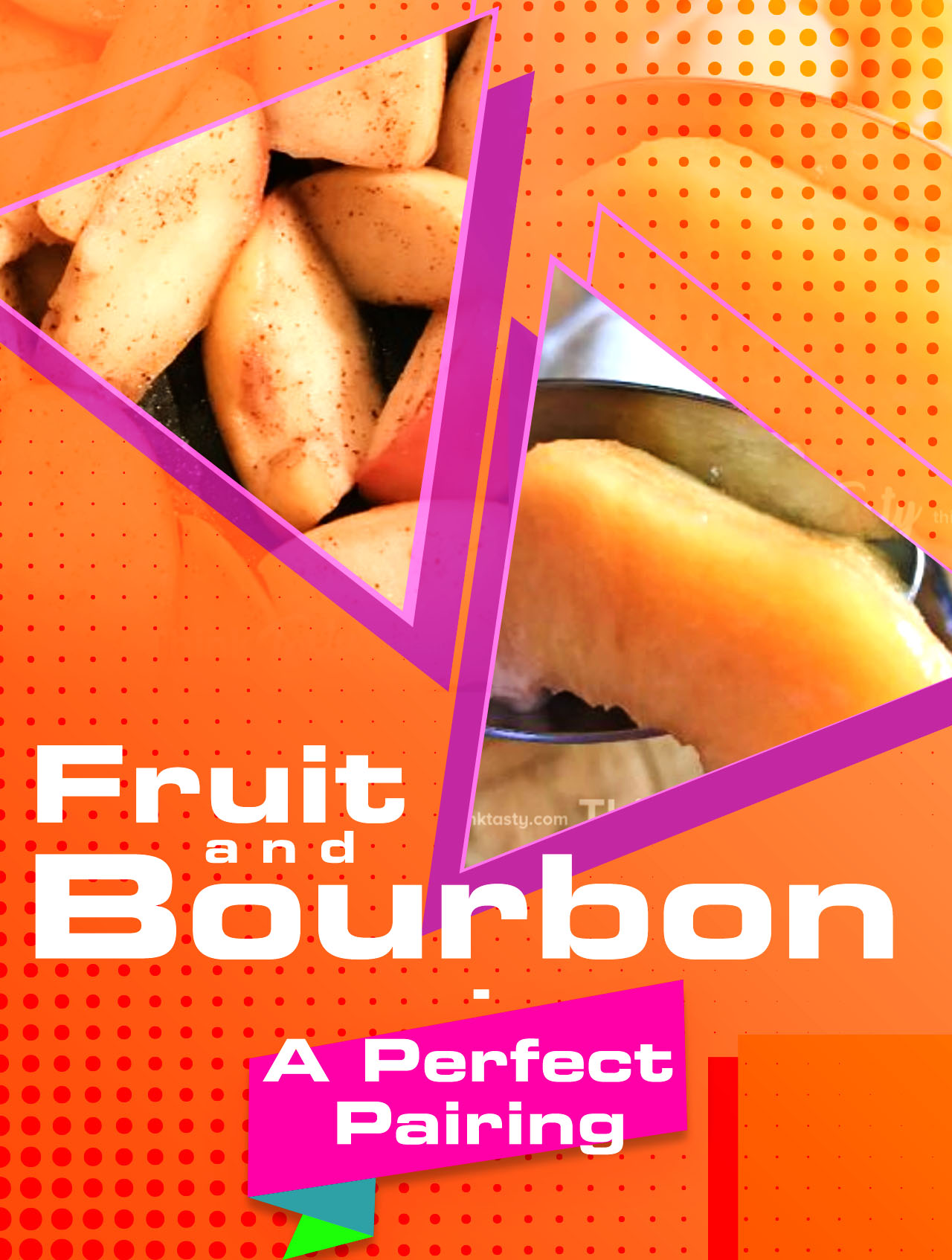 2 fruit dishes with bourbon